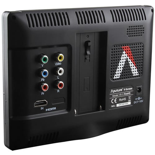 Monitor Aputure VS-2 FineHD - Parte Traseira