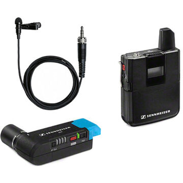 Sennheiser AVX-ME2 SET Digital Camera-Mount Wireless Omni Lavalier Microphone System (1.9 GHz) SEAVXME2SET4 AVX-ME2 SET-4-US